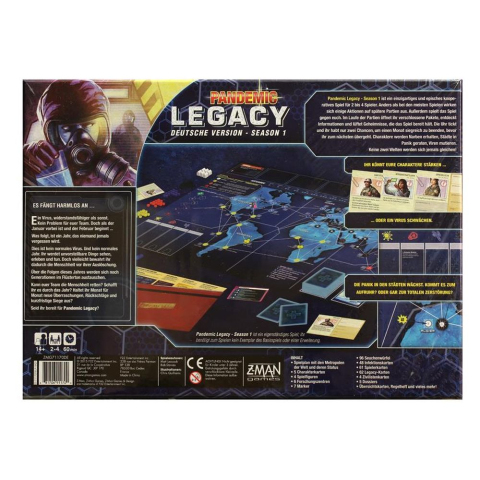 Z-Man Games Pandemic Legacy - Season 1 (blau)