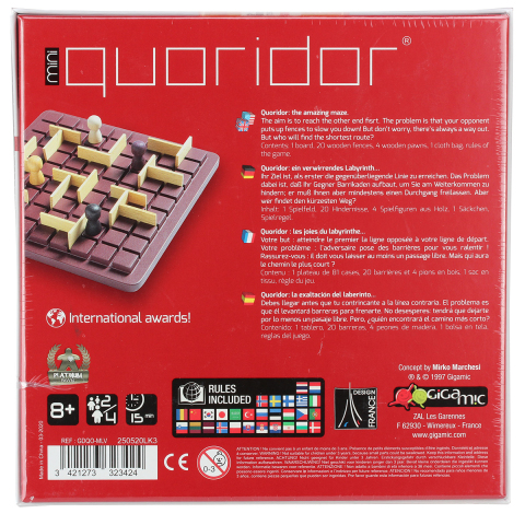 Gigamic Quoridor Mini - verwirrendes Labyrinth