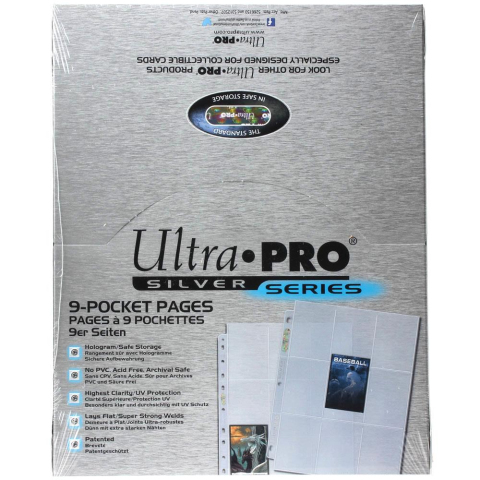 Ultra PRO Silver Series 9-Pocket Pages 9er Sammelkartenseiten Display 100 Seiten