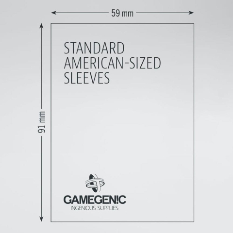 Gamegenic Matte Standard-American Sized Sleeves Hüllen 59x91mm (50 Stück)