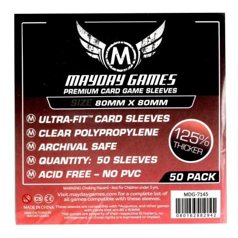 Mayday Premium Medium Square Card Sleeves Hüllen 80x80mm (50 Stück) - 7145