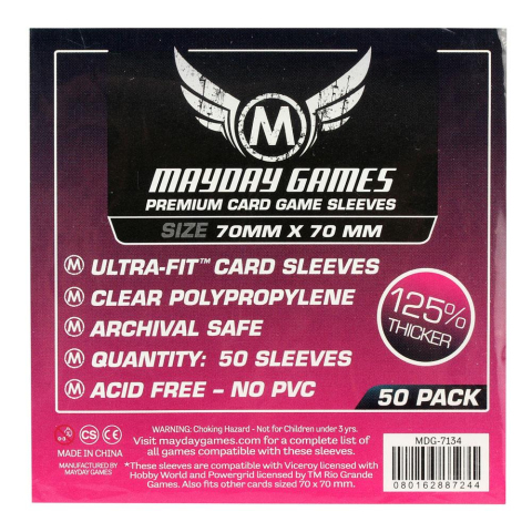 Mayday Premium Small Square Card Sleeves Hüllen 70x70mm (50 Stück) - 7134